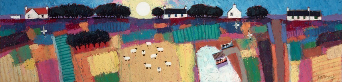 Summer Sun by David Body -  sized 47x12 inches. Available from Whitewall Galleries